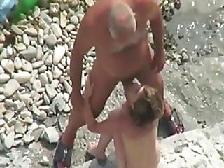 Old Young Straight Bottom Nudist At The Beach