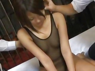Miku Misato With Hot Butt Sucks Tool While Getting Other In Cunt