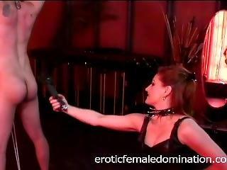 Lusty Brunette Slut Mistress Gemini Has Some Fun With A Horny Stud