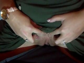 Horny Girl Quietly Rubbing Pussy On Bestfriends Laundry Basket Flashes Tits