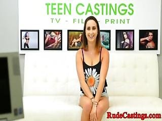Bigbooty Teen Filmed At Brutal Casting