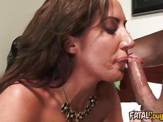 Fatal Cougar Bitch Fucks Younger Stud