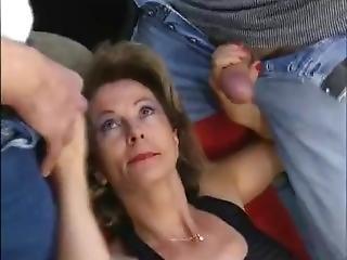 Granny Cum Gangbang