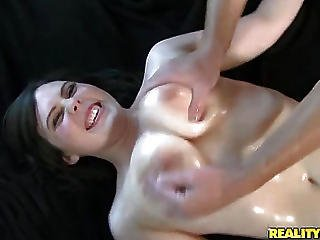 Now Big Oiled Tits Party Getting Heat!