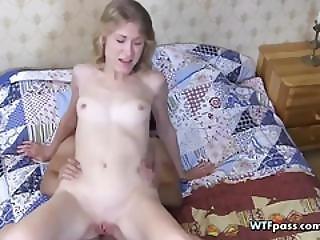 Blonde Shy Cutie Giving Head