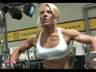 Gorgeous Blonde Working Out