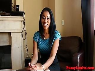 Ebony Slut Pussypounded After Facefucked