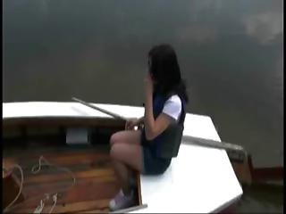Brunette Teen Blows A Dick And Gets Fucked On Her Sailboat