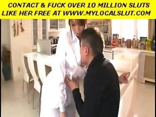 So Pretty Japanese Wife Make A Hell Of A Blowjob When Parents Are Out Of House