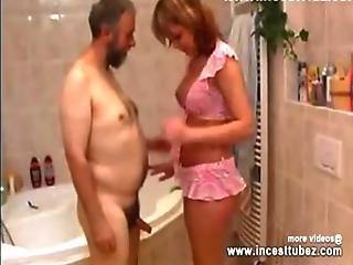 Dad And Daughter Have Sex In Bathroom - Incesttubez.com