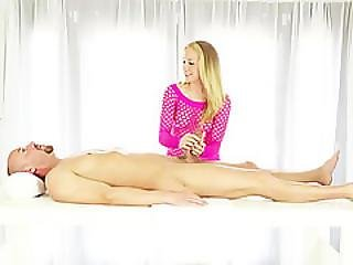 Hot And Beautifl  Masseurs Assure Clients Pleasure By Giving Him A  Hot Milking
