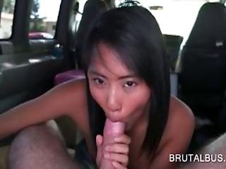 Asian Nymph Blows Cock And Takes It Up In Her Wet Slit