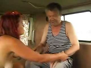 Sexy Red Head Bitch Prepare Homeless Man For Sex