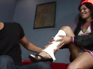 Breasty Ladyboy Receives Semen
