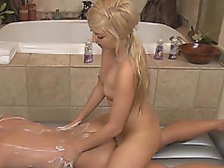 Blonde Cutie Soapy Body Massage Handsome Stud