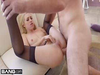 Bang Gonzo Lyra Law Hot Blonde Has Her Tight Asshole Stretched