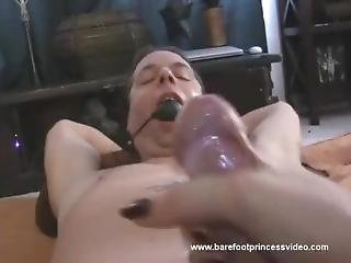Tied Up Guy Tortured Post Orgasm Handjob Pot