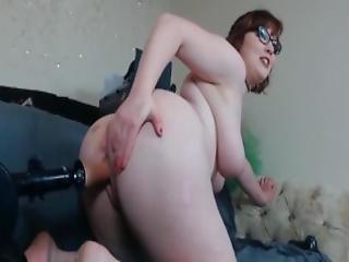 amateur, cul, bbw, gros cul, poitrine généreuse, jouflue, nique, machine à niquer, masturbation, milf, rousse, solo, jet de mouille, vibrateur, webcam