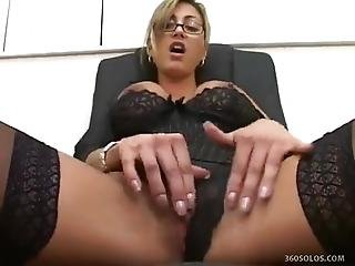 A Naughty Librarian Checks Out Her Pussy