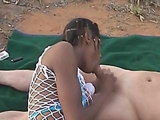 Three African Sluts Banged Hard By Two Guys On The Safari