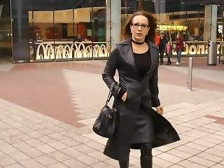 Lady In Leather Coat