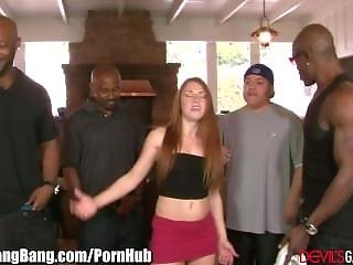 Devilsgangbangs Redhead Takes It In All Holes