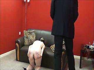 Faes Bare Booty Spanking And Corporal Punishment Of Striped Amateur Slave In Severe Discipline And Whipping By A Stern Punisher