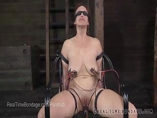 Busty Bella Rossi Blindfolded And Interrogated With Electricity