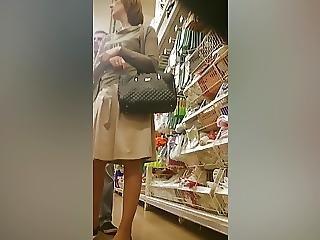 verborgen camera, russisch, rok, jurk, gluurder
