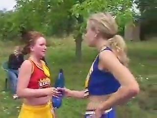 Marina Vs Romana Cheerleader Fight