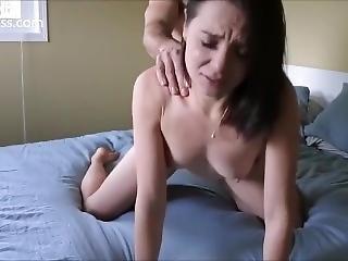 Fuck And Cum On A Cute Brunette (homemade)