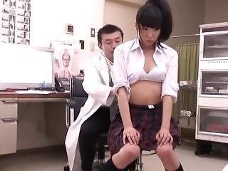 doktor, japansk, små pupper, Tenåring