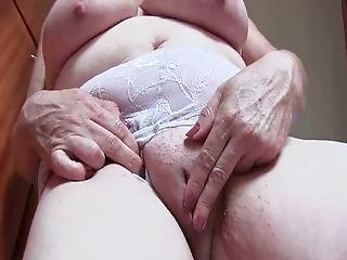 Busty Older Woman Dildo Fucking Her Mature Pussy.