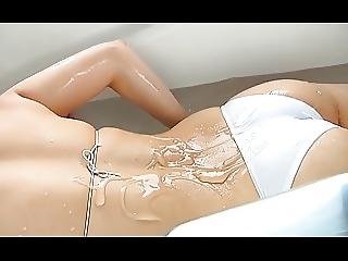 Japanese, Lotion, Softcore, Teen, Wet
