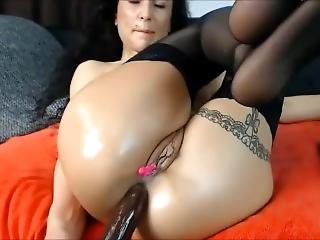 Insanely Huge Black Dildo In My Tight Asshole
