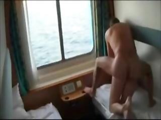 anal, rompe, stor rompe, blond, båt, cumshot, doggystyle, knulling, taxi