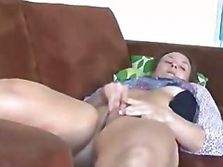 Stepmom Spied While Masturbating