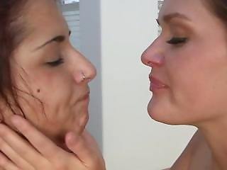 Sloppy Girl (abby & Evi) Spit Kissing (hd)