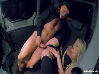 Fucked In Traffic Blonde Cunt Claudia Macc Giving A Bj To Her Chauffer