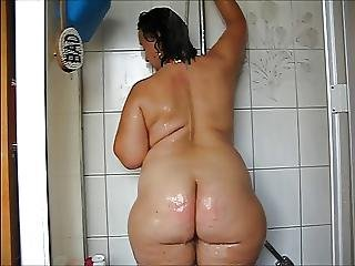 Ass, Big Ass, Butt, Mature, Shower, Wet