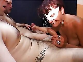 Anal, Banging, Sperme, Avale Le Sperme, éjaculation, Milf, Orgie, Avale