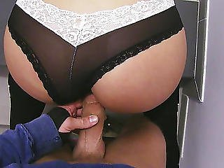 Large Ass Teenager Gangbanged Hard On Less Busy Stairways Threatening-fearsome Hd Porn