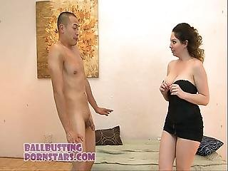 Kiki Busts Asian Guys Balls Foot Fetish