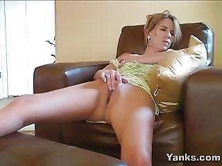 amatorski, blondynka, masturbacja, milf, orgazm