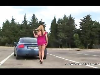 blondynka, milf, park, publicznie, rzeczywistość, ciężarówka