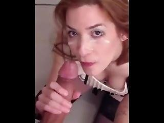 Stunning Redhead Good At Sucking Cock.