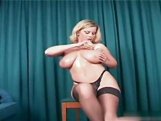 store bryster, blond, bryst, massage, meloner, milf, oiled