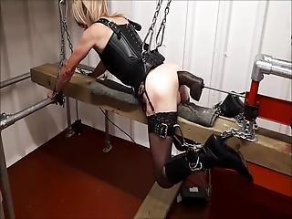 Rachelsexymaid - 17 - Dungeon Chained To Bbc Fuck Machine