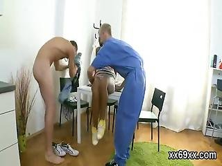 Medic Helps To Check On A Virgin Teen And Assists With Hymen Examination And Defloration Or First Time Hardcore Sex