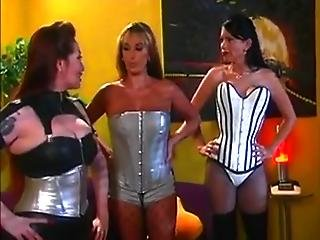 Lesbians In Corsets And Fishnets Spank